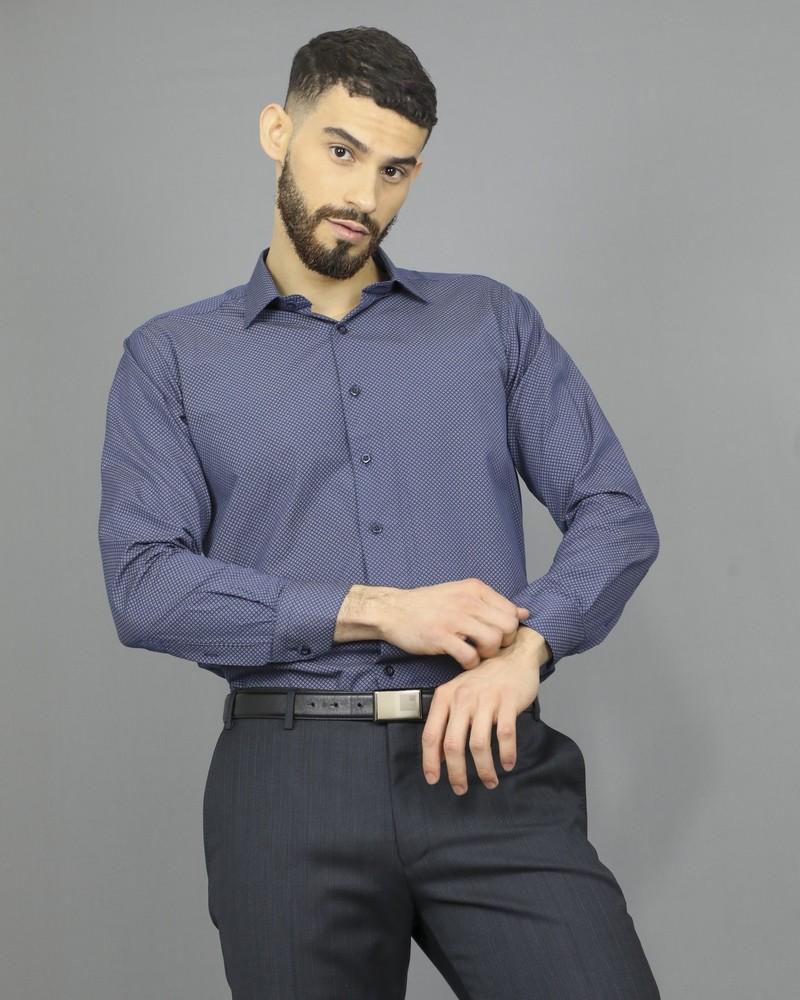 Chemise bleue à motifs Chrom