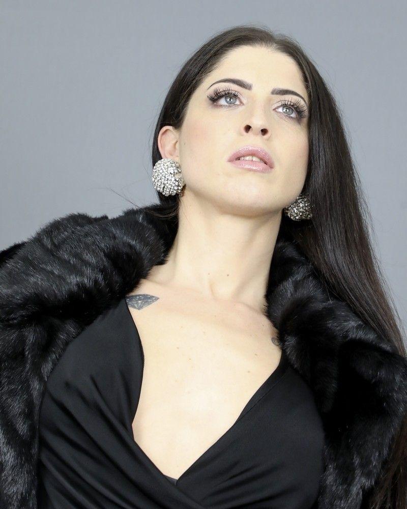 Boucles d'oreilles à clip strassé Elisabetta Franchi