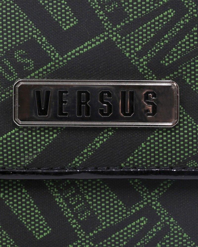 Portefeuille en coton à motif jacquard et ouverture classique Versace