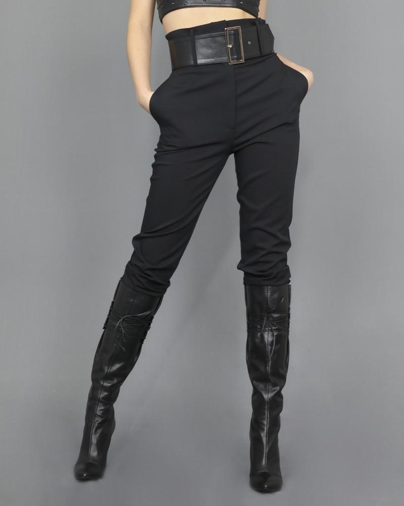 Pantalon carotte à ceinture Space Simona Corsellini