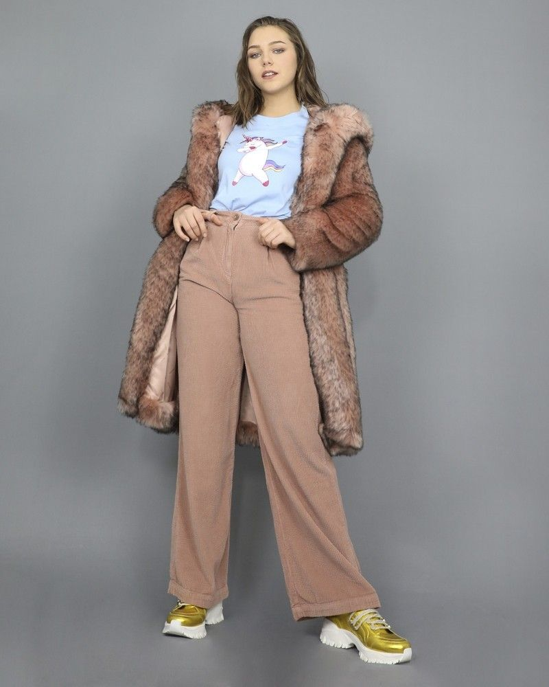 Pantalon en coton rose Chloe Stora