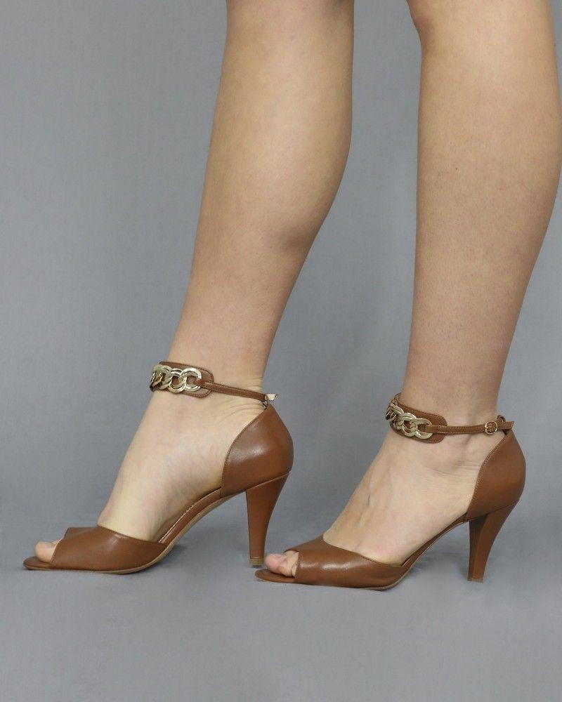 Sandales en cuir à brides ornées de chaîne Antonio Barbato