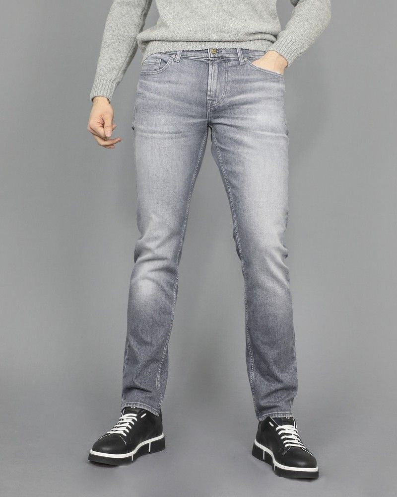 Jeans slim gris 7 for All Mankind
