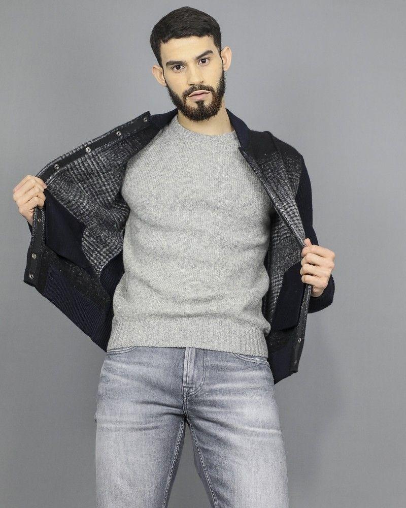 Veste blouson en laine noire Ly Adams