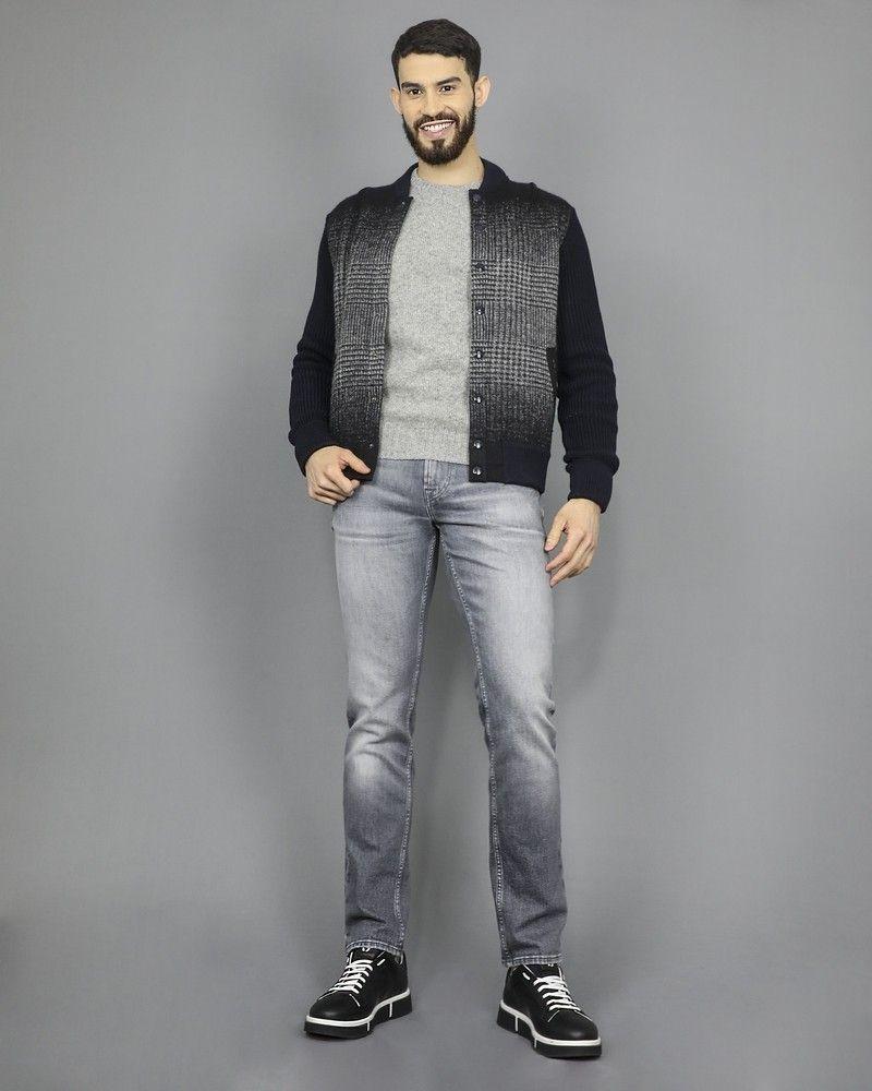Veste blouson en laine bleu marine Ly Adams