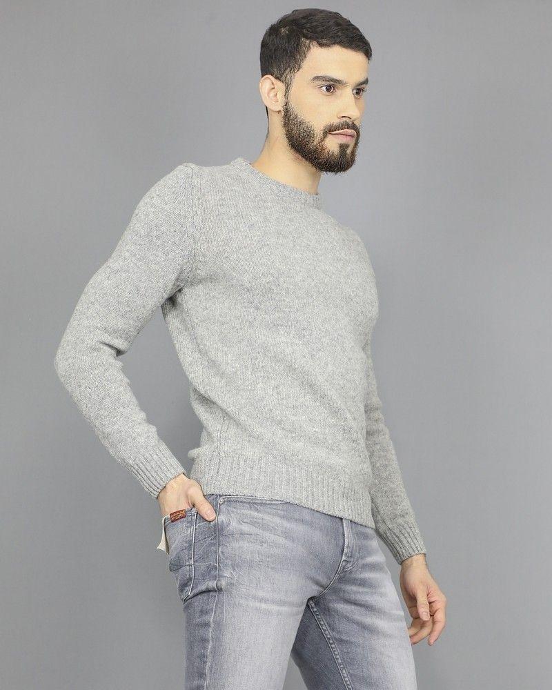 Pull gris en laine pure Casheart