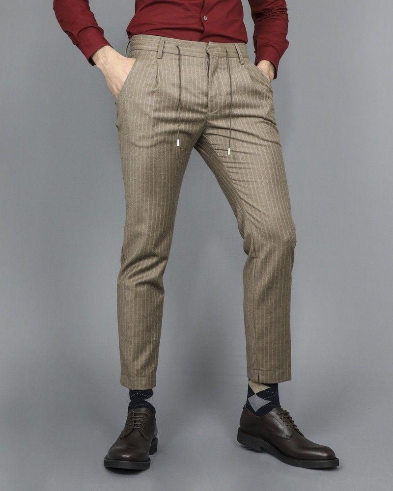 Pantalon à cordon beige Ly Adams