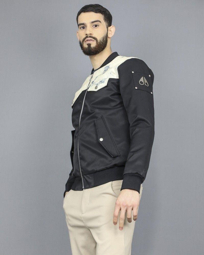 Veste-blouson à empiècements en jeans Moose Knuckles
