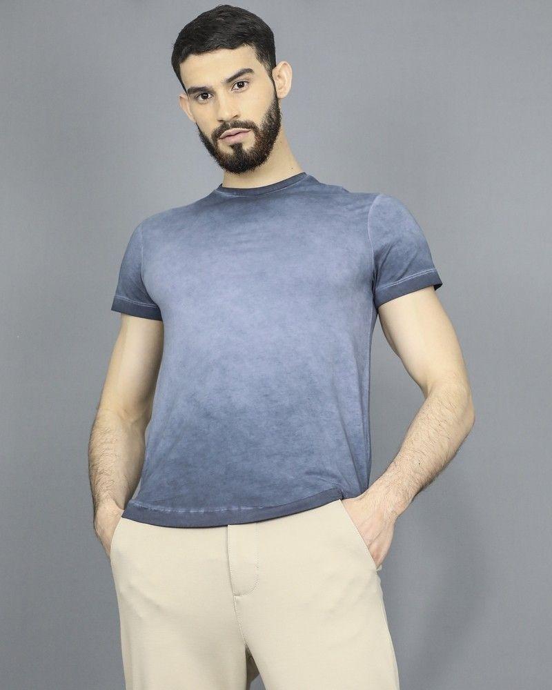 T-shirt bleu effet délavé Woolgroup
