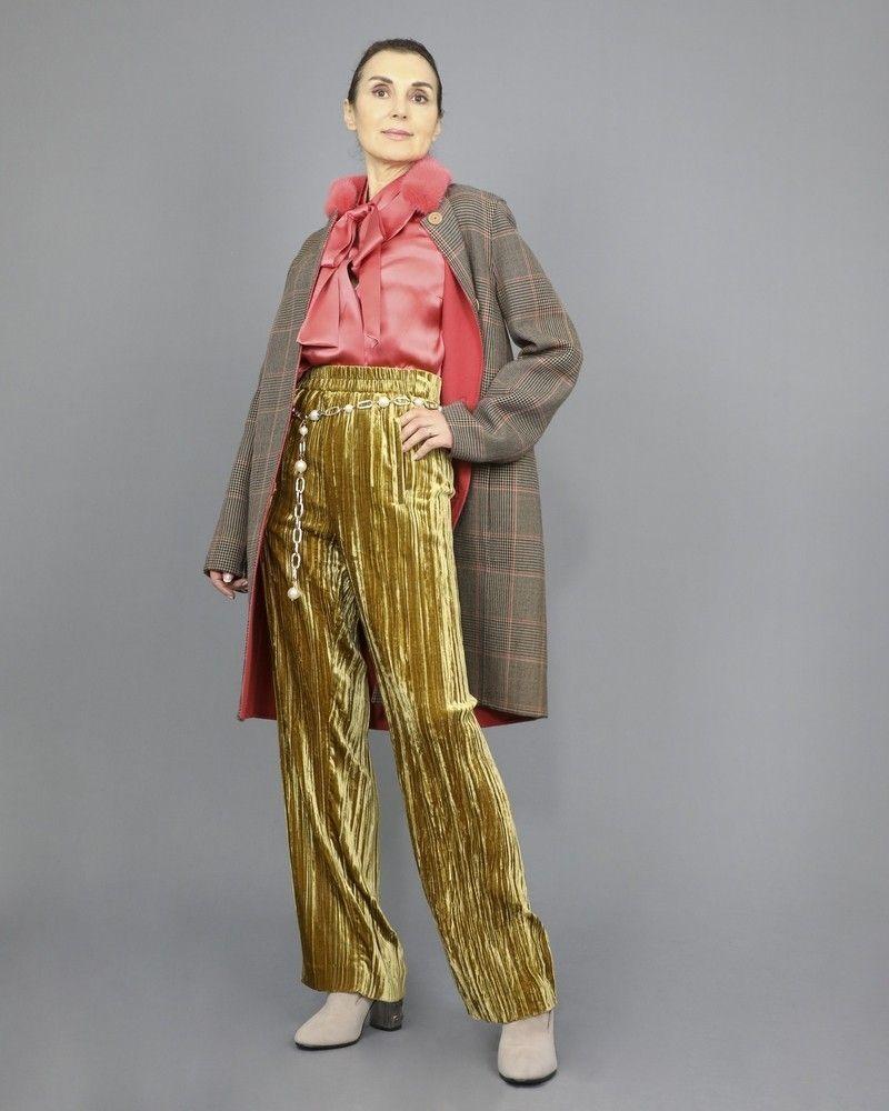 Pantalon en velours à ceinture élastique Momoni