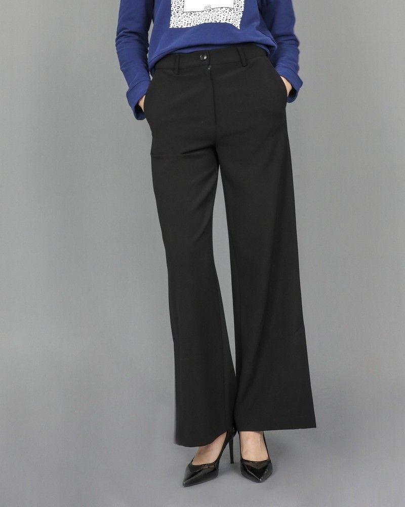 Pantalon droit à fente Isabelle Blanche