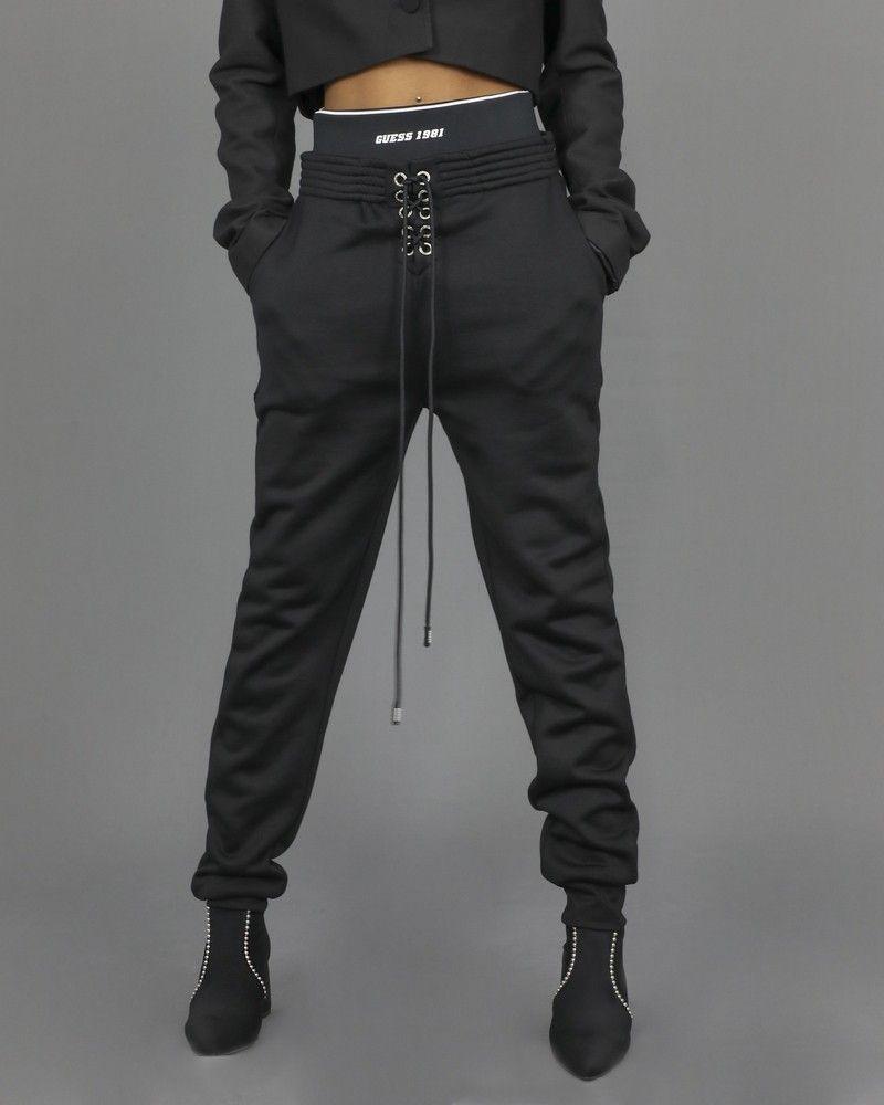 Pantalon de survêtement à bande élastique appliqué Guess