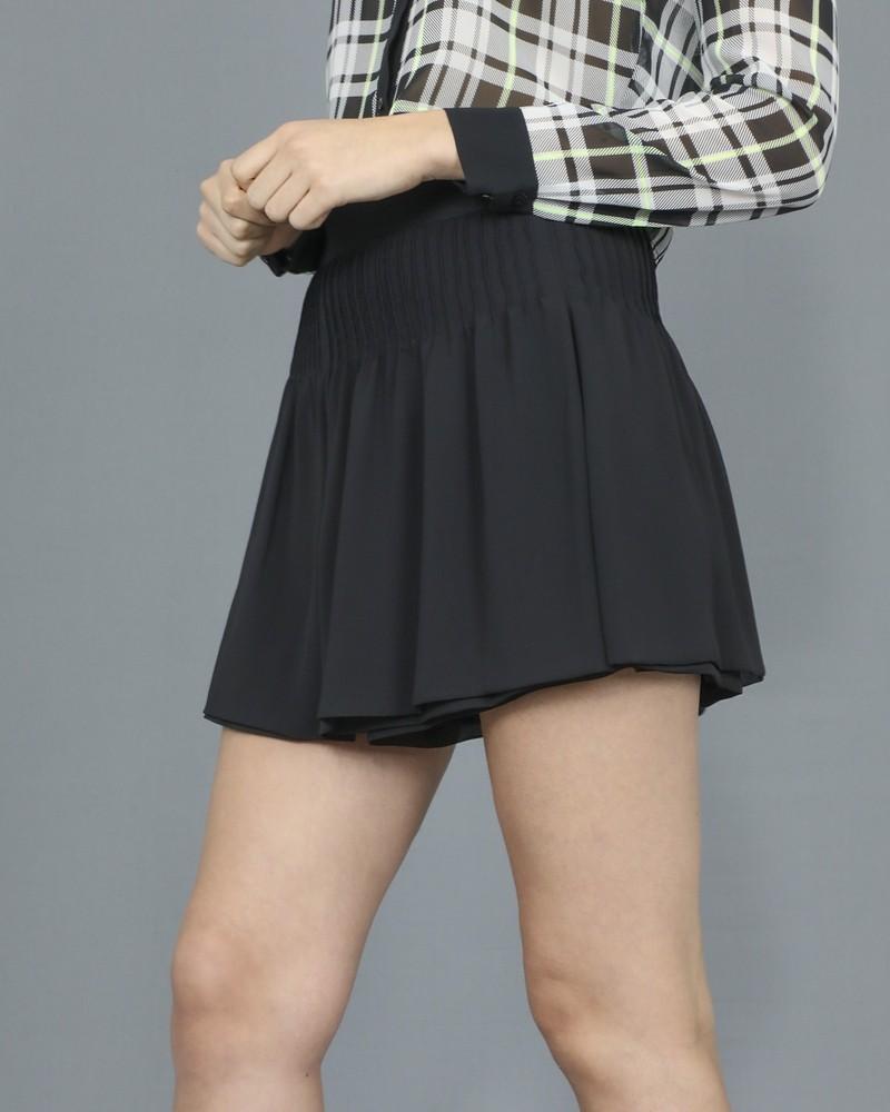 Short jupe noir à plis Edward Achour