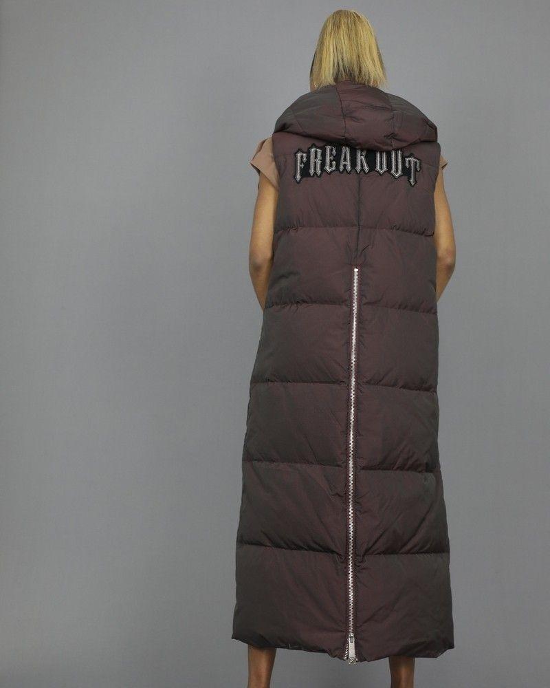 Doudoune bordeaux en tissu technique à capuche John Richmond
