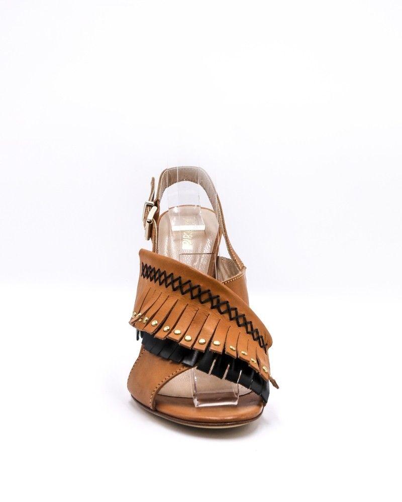 Sandales en cuir à franges Roberto Cavalli.