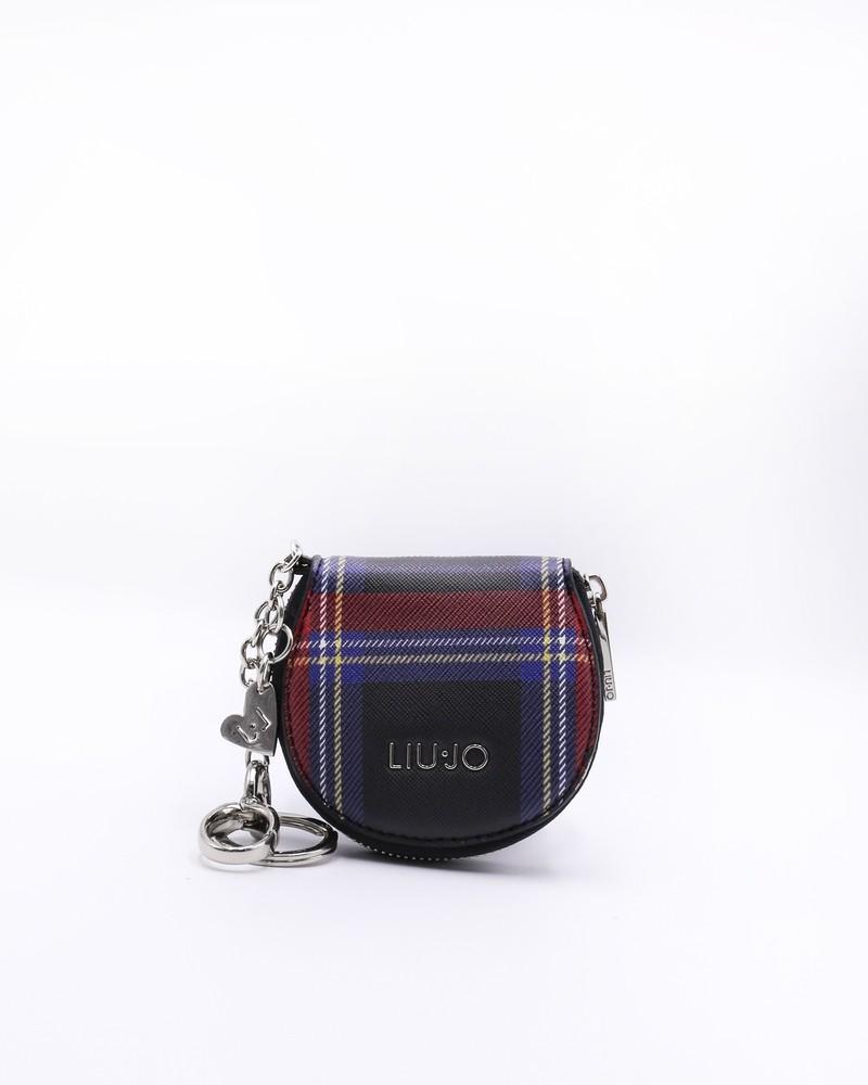 Porte monnaie noir motif ecossais Liu Jo