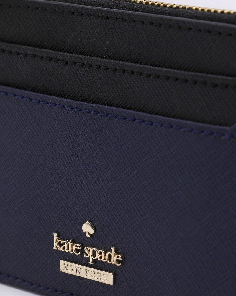 Porte carte bleu et noir Kate Spade