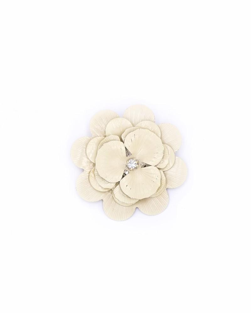 Broche en forme de fleur beige Twinset