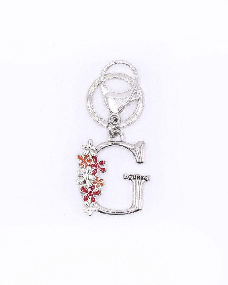 Porte clé avec imprimé floral Guess