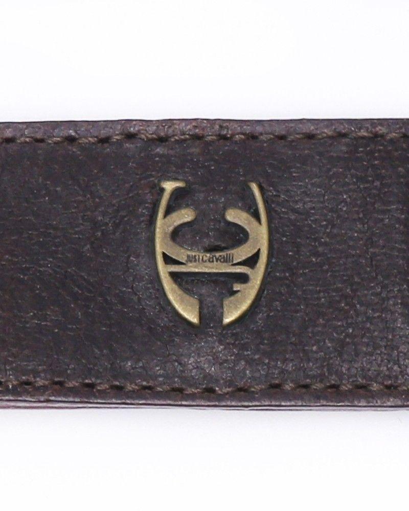 Porte clé en cuir Roberto Cavalli