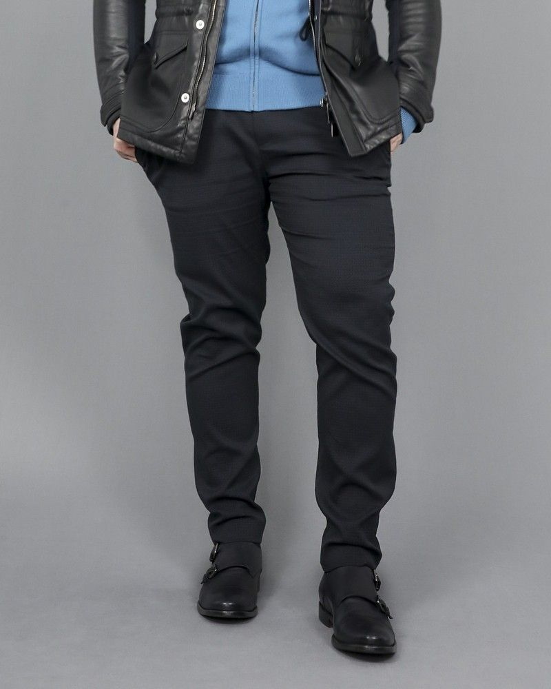 Pantalon à pince bleu marine Hosio