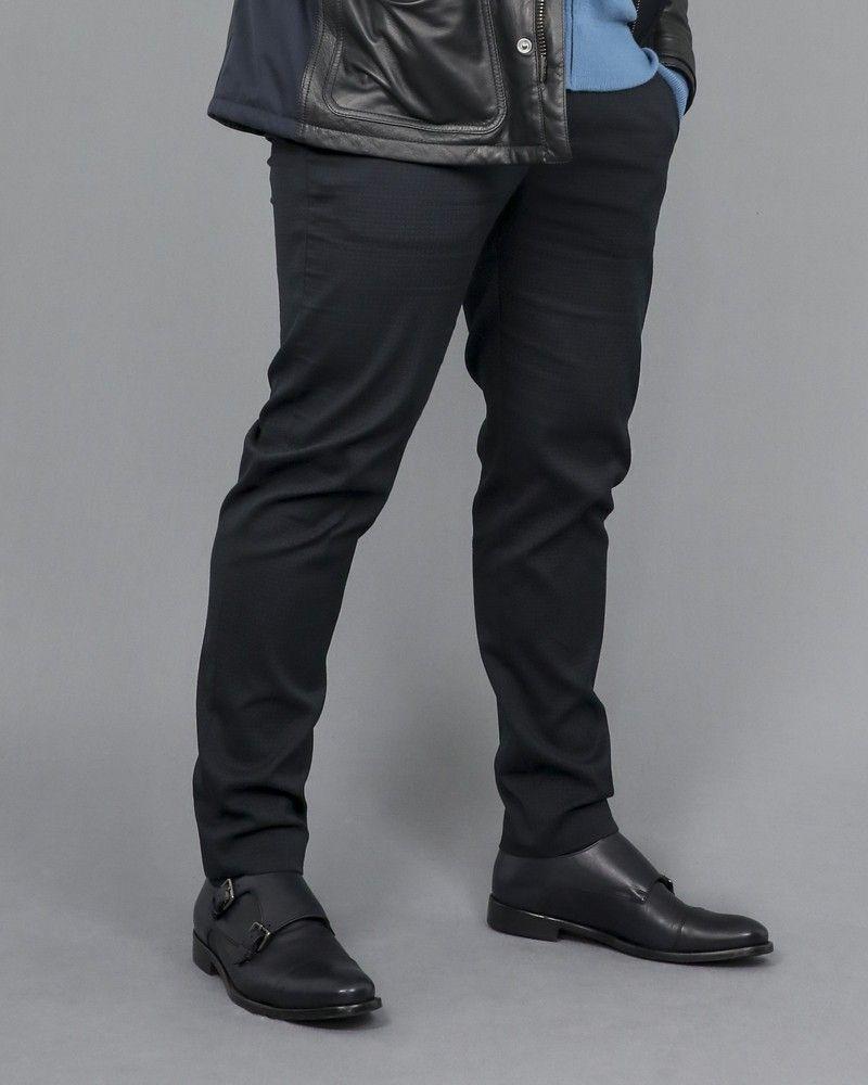 Pantalon à pince bleue marine Hosio