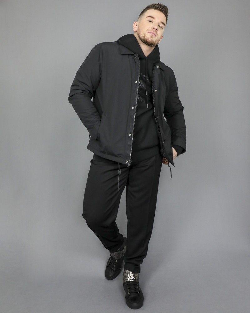 Pantalon à pince noir Corneliani