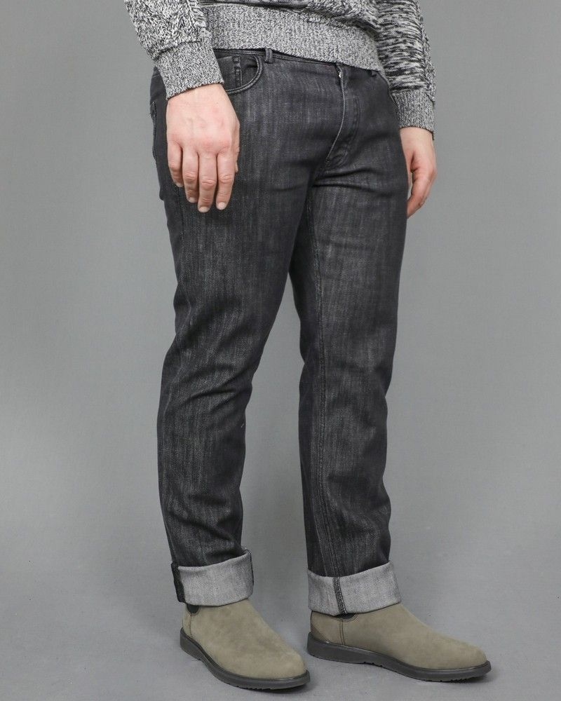 Jean coupe droite taille haute Lab