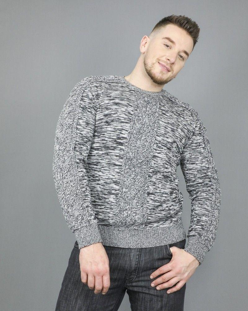 Pull en laine à mailles torsadées Ly Adams
