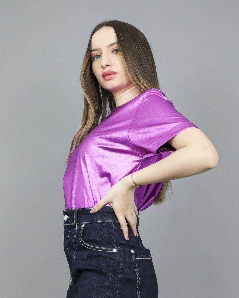 T-shirt en coton violet Jijil