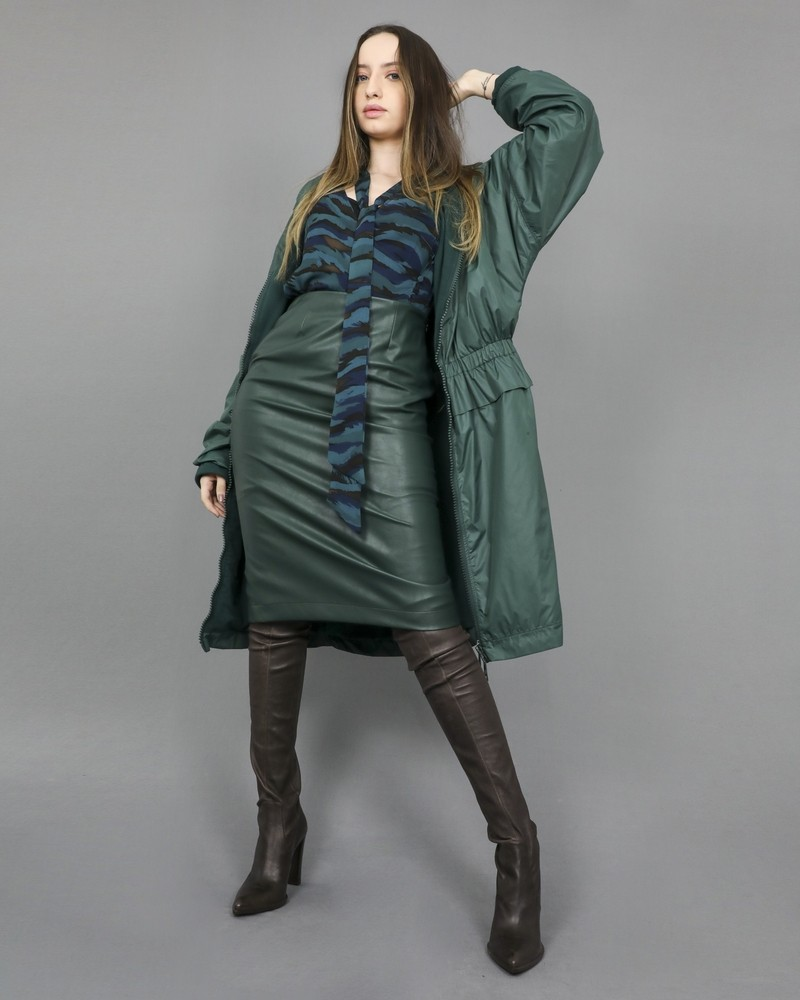 Manteau imperméable à volants Jijil