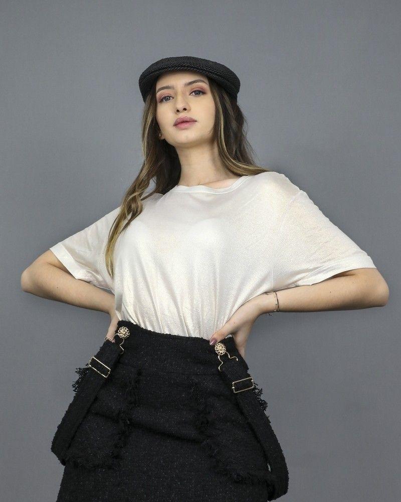 T-shirt en coton métallisé Jijil