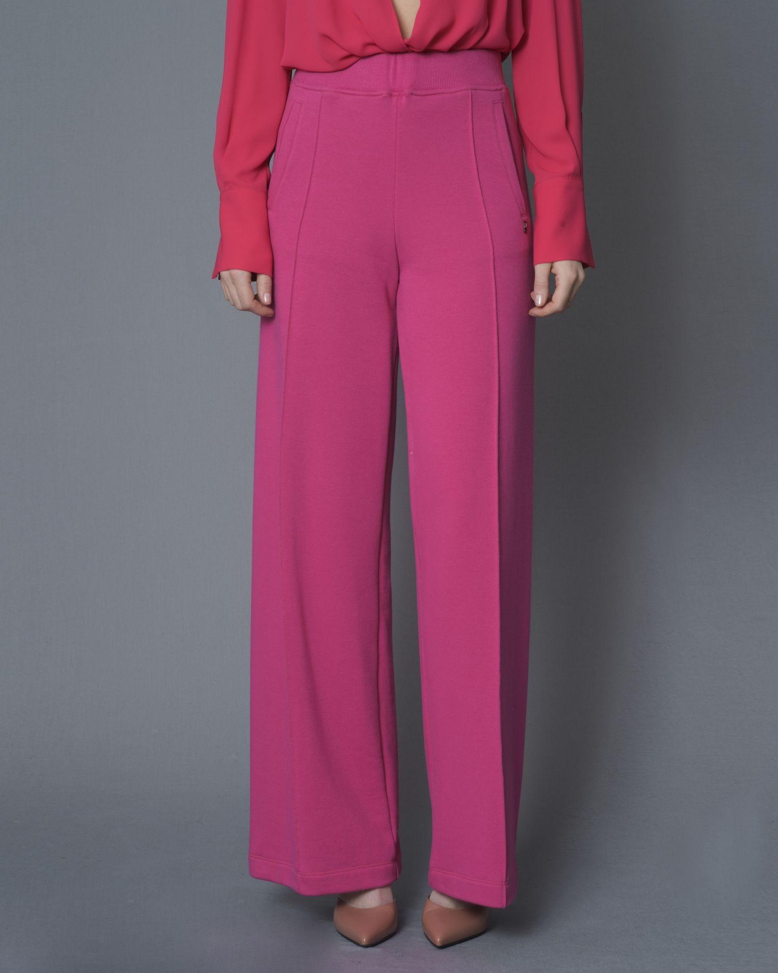 Pantalon de survêtement large en coton mélangé rose Jijil.