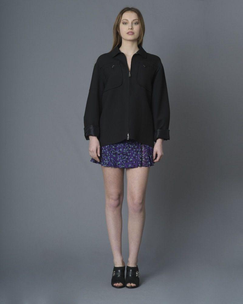 Mini-jupe plissé à motif pois Just Cavalli