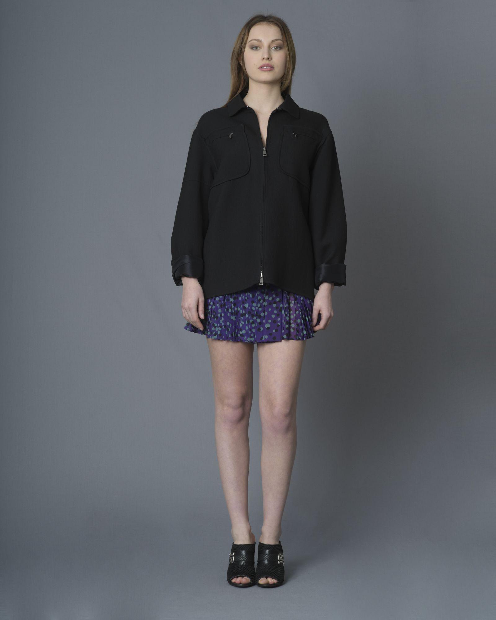 Mini-jupe plissé à motifs pois Just Cavalli