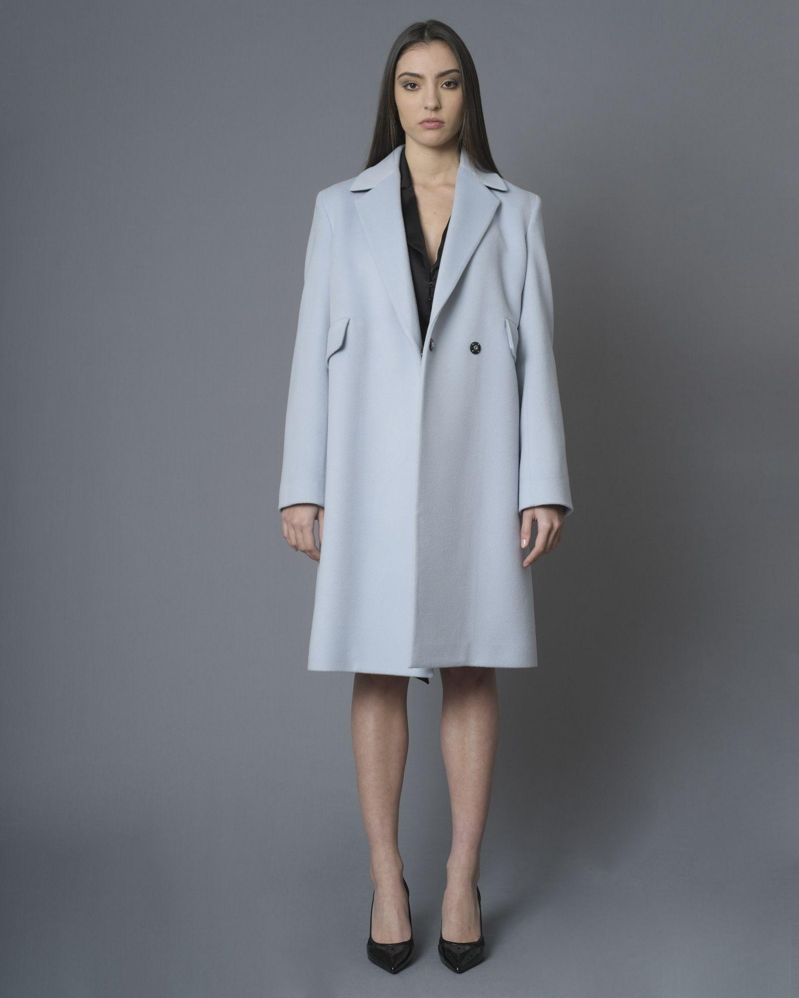 Manteau bleu pâle en laine Eleventy