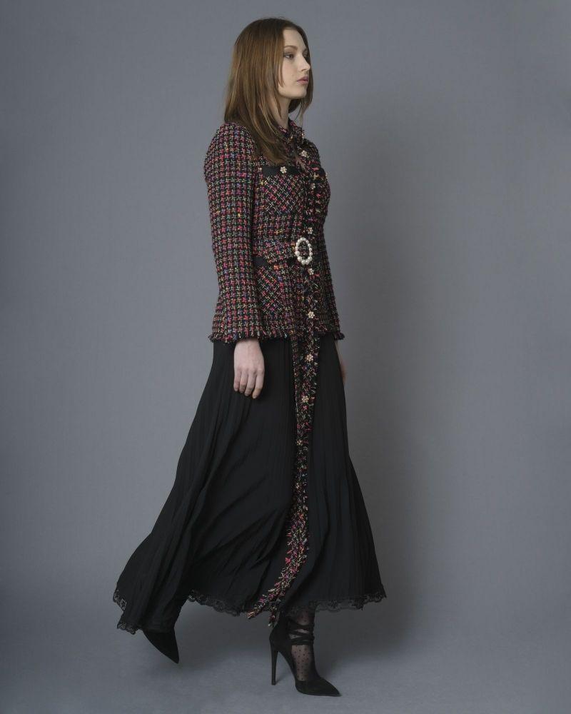 Robe en tweed à empiècement Edward Achour