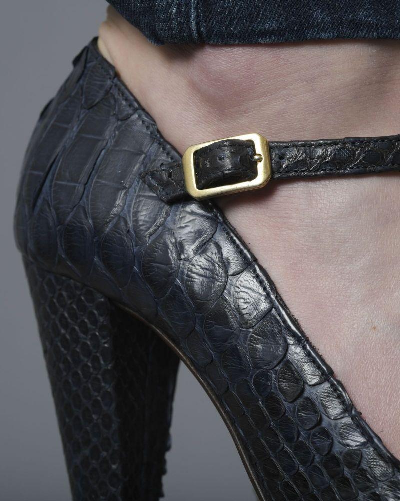 Sandales à brides en cuir effet croco Michetti Daniele