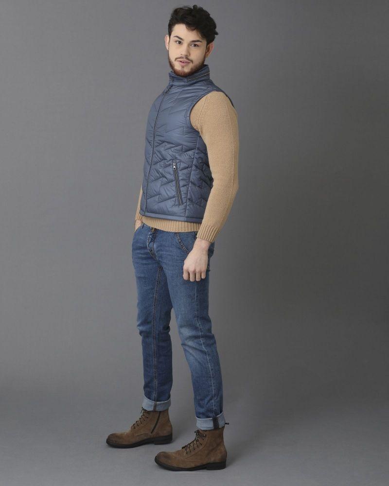 Jeans coupe droite bleu à surpiqûres contrasté Jacob Cohen