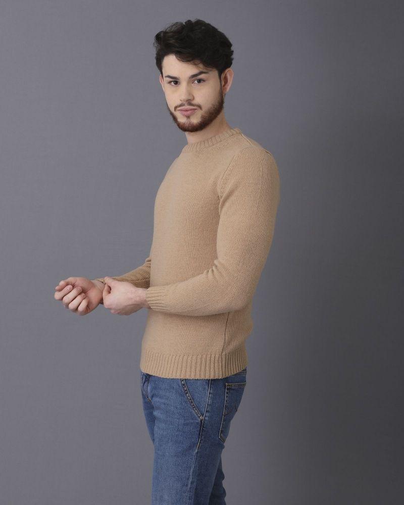 Pull en laine pure beige Casheart