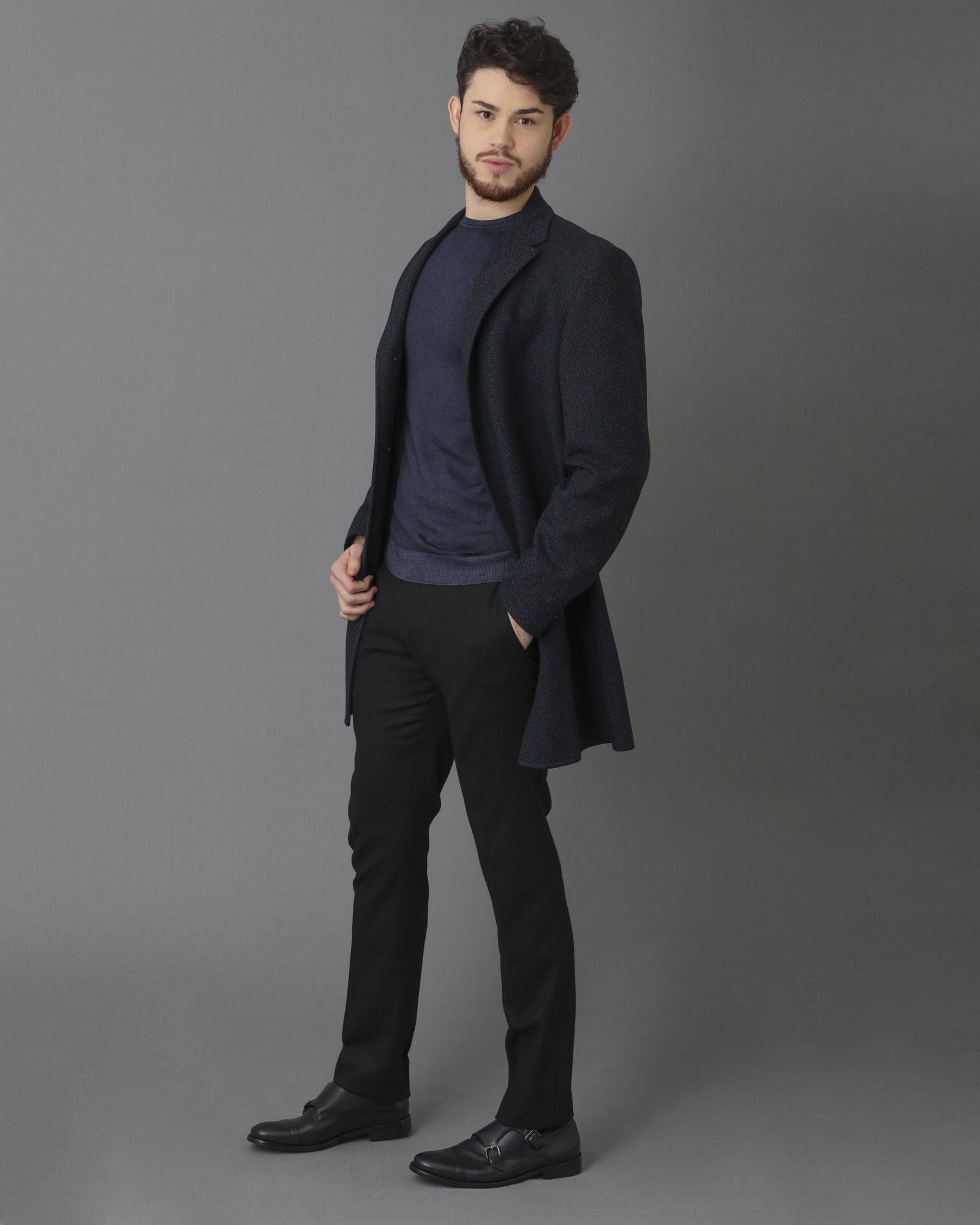 Manteau bleu Nino Danieli