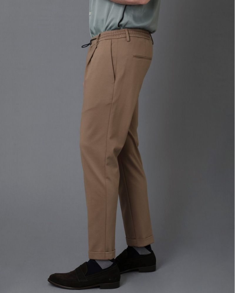 Pantalon beige en maille stretch Casheart