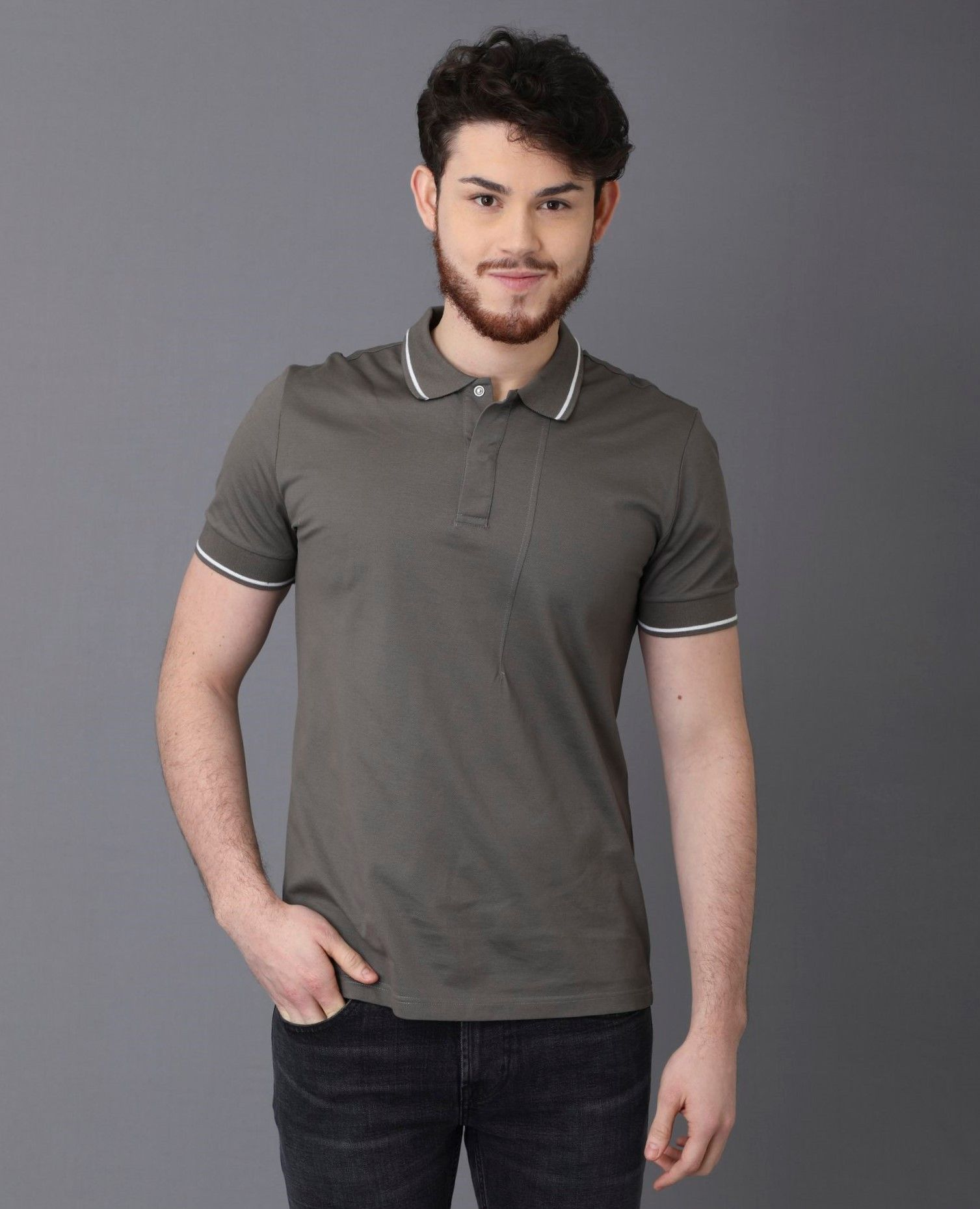 Polo gris Low Brand