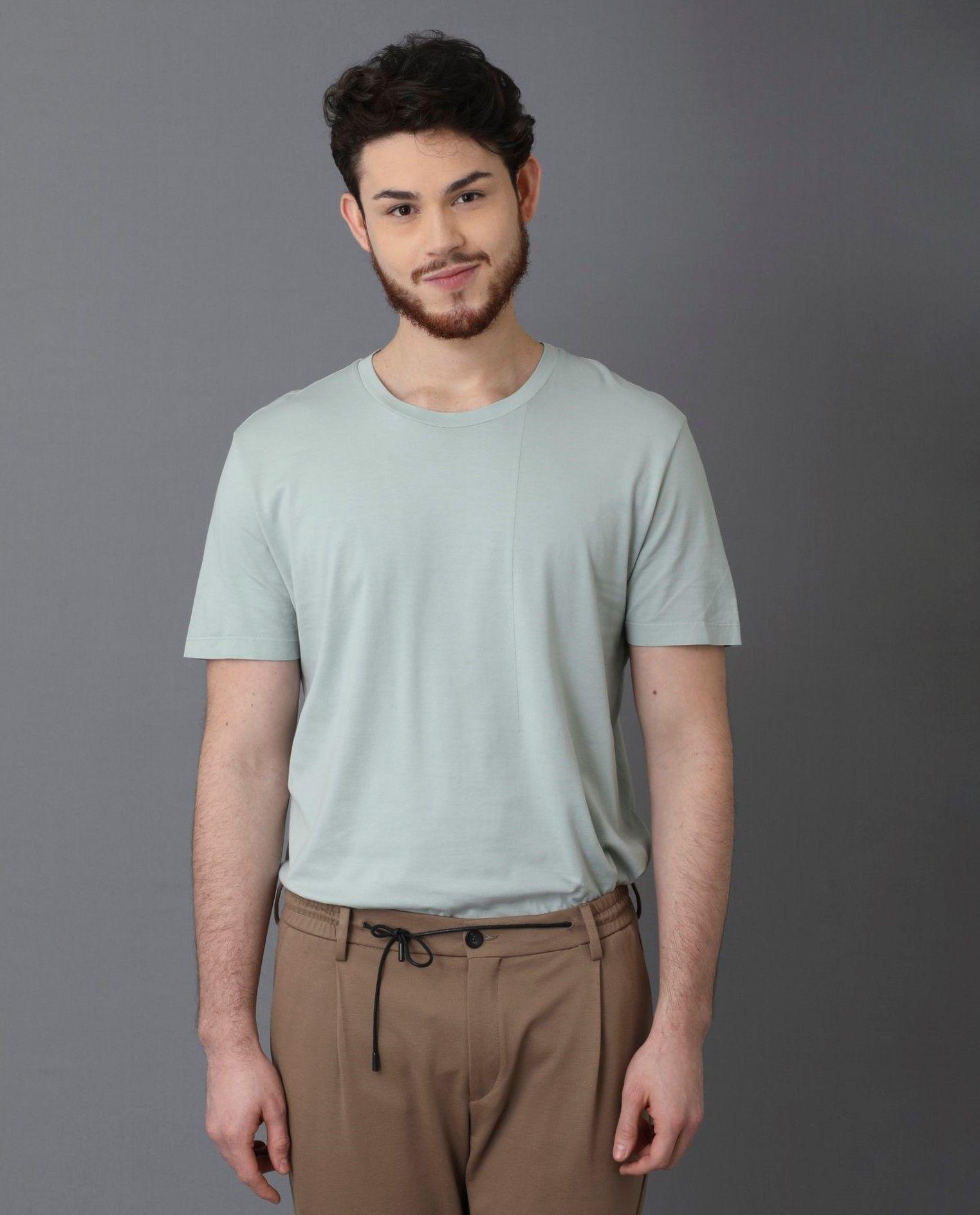 T-Shirt vert col rond Low Brand