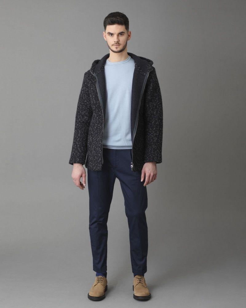 Pull en laine bleu ciel Casheart
