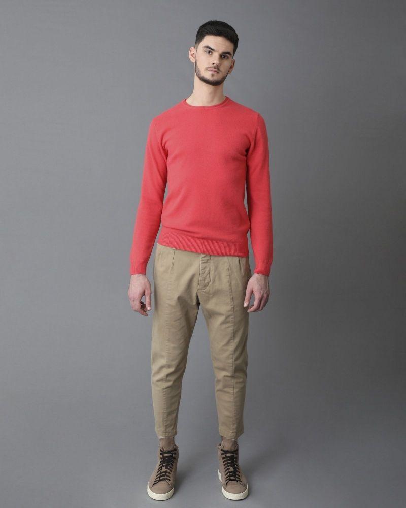 Pull en laine rose Daniele Fiesoli