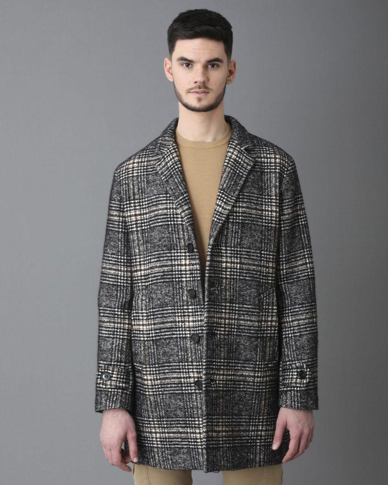 Manteau gris à carreaux Palto