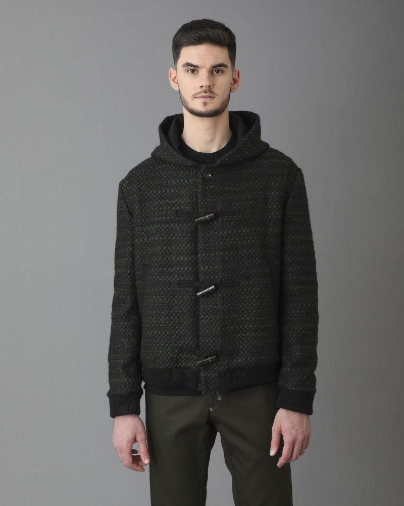 Veste laine noir et vert Ly Adams