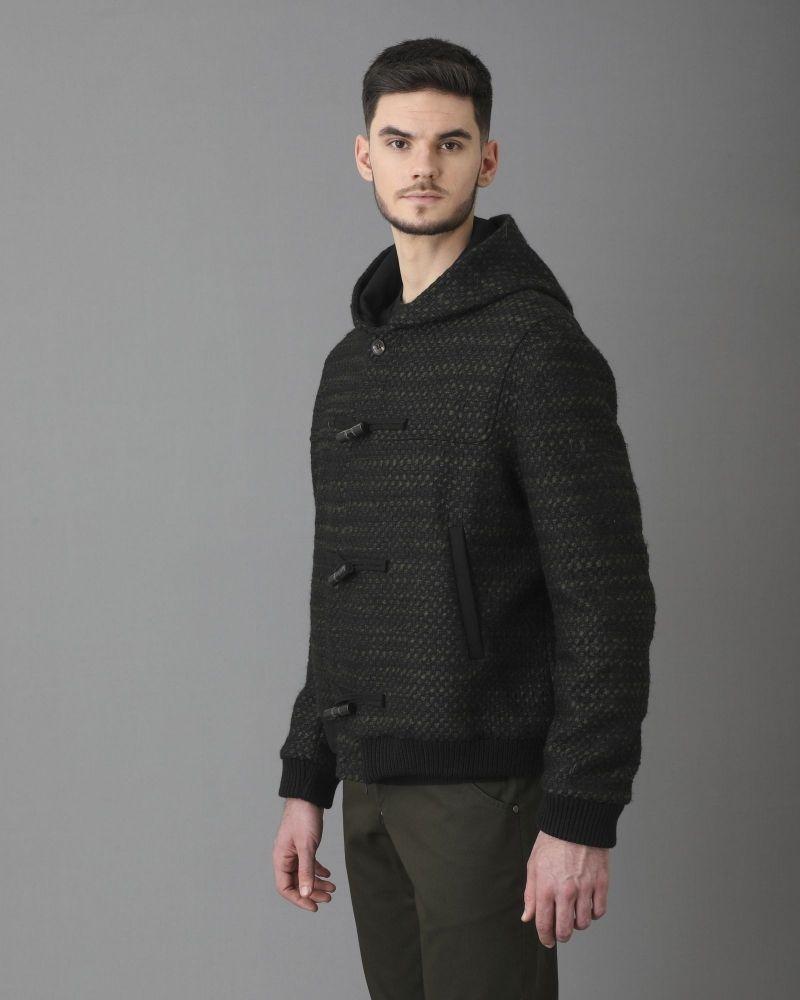 Blouson en laine mélangée à capuche Ly Adams