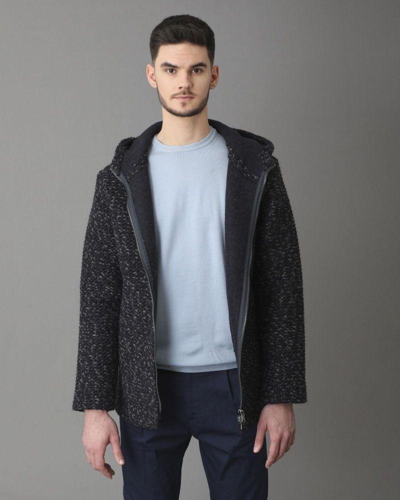 Manteau en laine mélangée à capuche Woolgroup Fiesoli